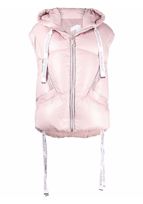 Gilet puff khris iconic in rosa antico - donna KHRISJOY | AFPW003NYLAR172
