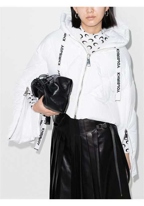 Piumino crop puff khris iconic in bianco - donna KHRISJOY | AFPW004NYWH03