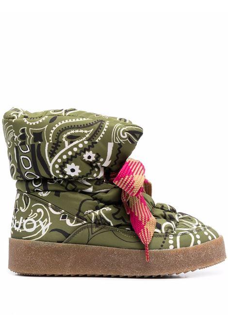 Stivali con stampa Puff in verde - donna KHRISJOY | CFMW100NYBDCMM01