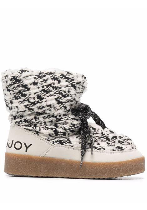 Stivali con stampa Puff in bianco e nero - donna KHRISJOY | CFMW100TW2CMB02