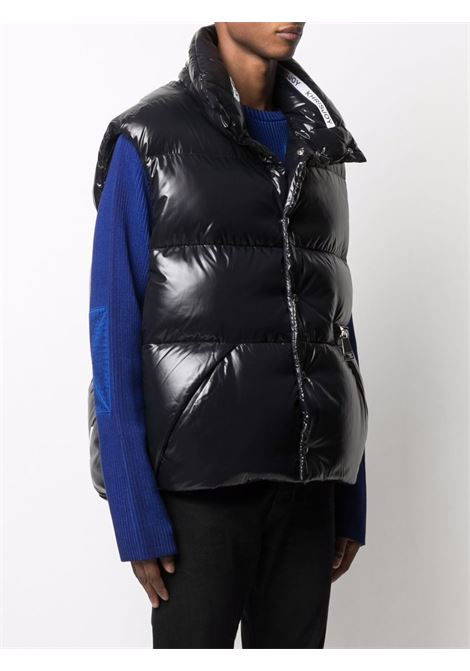 Gilet imbottito con stampa oversize in nero - uomo KHRISJOY | CFPM049NYLBK01