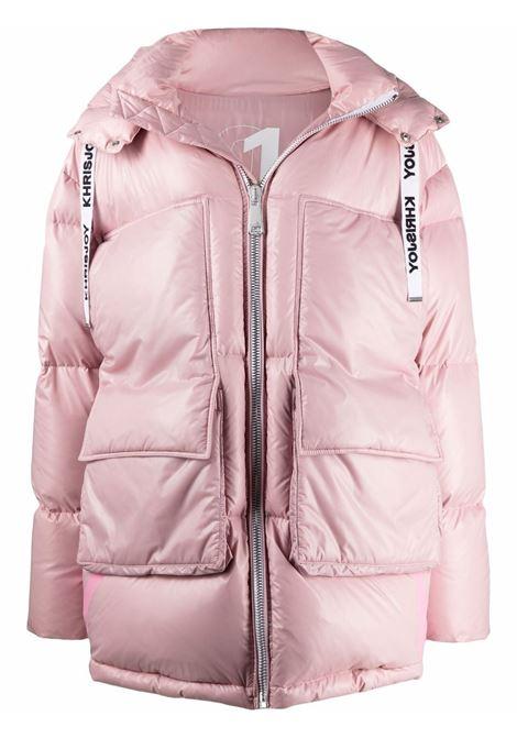 Parka a sbuffo oversize in rosa antico - donna KHRISJOY | CFPW016NYLAR172