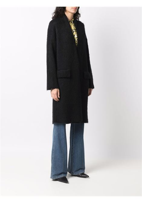 Black open-front knitted coat - women  LANEUS   CPD12049008
