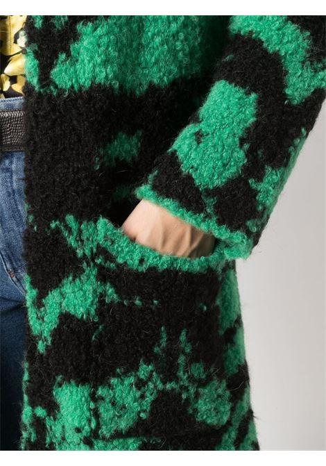Green and black animal-print coat - women  LANEUS   CPD3062