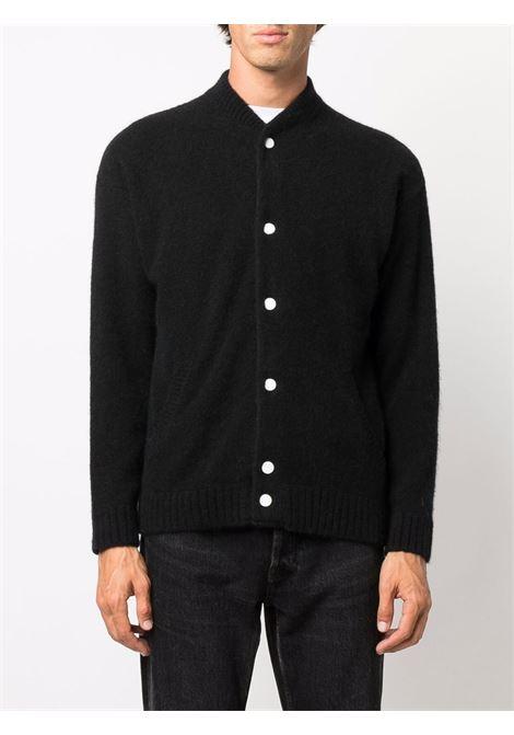 Black Mickey Mouse embroidered cardigan - men  LANEUS | GBU1002U