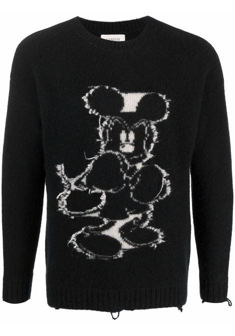 Mickey Mouse intarsia-knit jumper in black and white - men  LANEUS | MGU10221