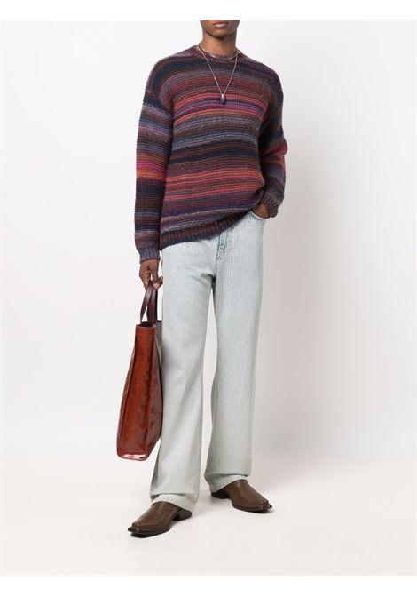 Striped knit jumper in multicolour - men LANEUS | MGU57171159