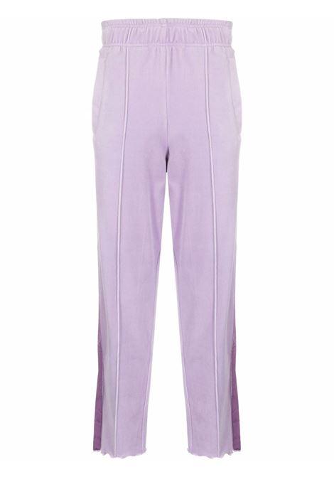 Side stripe straight-leg trousers in liliac - men  LANEUS | PNU39LLL