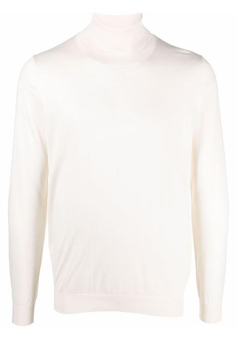 Roll-neck jumper in white - men LANEUS | S250211
