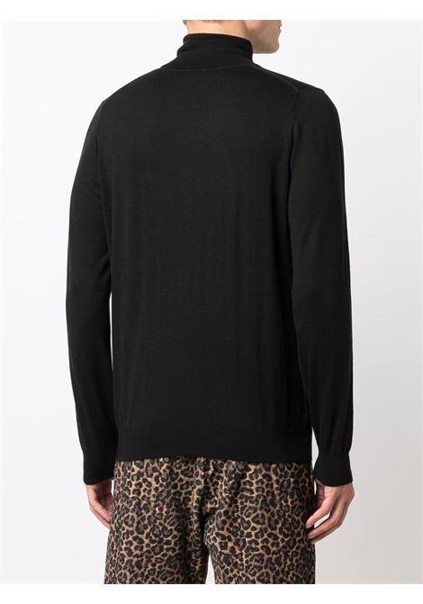 Roll-neck jumper in black - men LANEUS | S250299