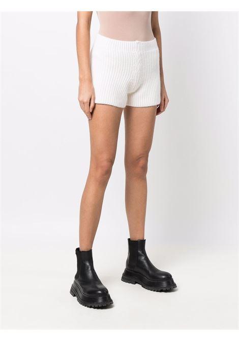 White ribbed shorts - women  LANEUS   SHD50350