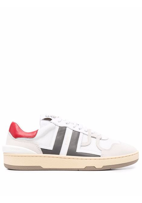 Sneakers clay in mesh bianco e grigio - uomo LANVIN | FMSKDK00NASH0013