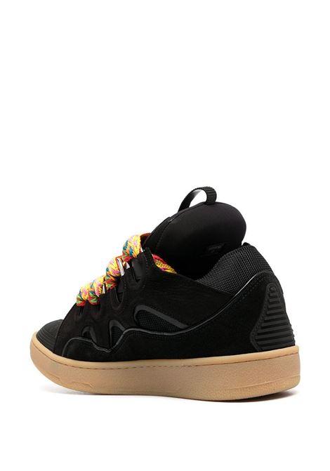 Low lace up sneakers black- men LANVIN | FMSKRK11DRAG10