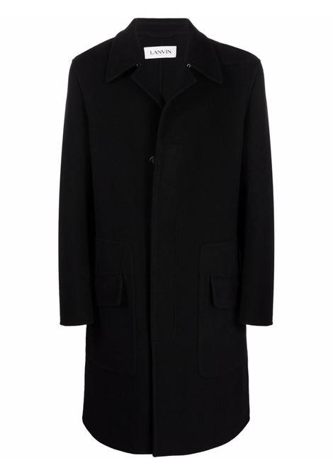 Cappotto midi nero- uomo LANVIN | RMCO0019433710