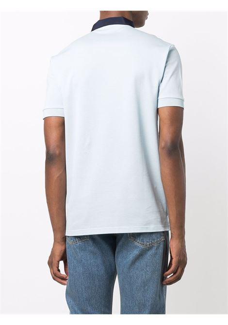 Polo con colletto a contrasto azzurro e nero - uomo LANVIN | RMPL0005J048201