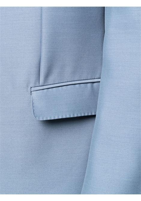 Completo monopetto azzurro satinato- uomo LANVIN | RMSU0008478019