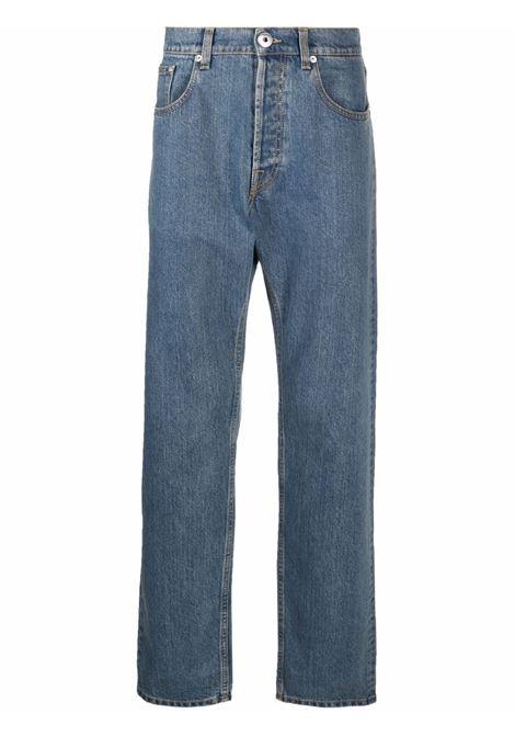 Five-pockets straight-leg jeans blue - men LANVIN | RMTR0077D00922