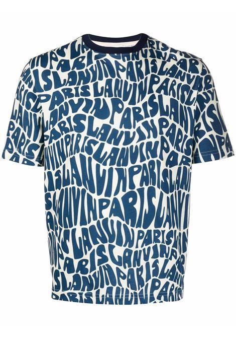 T-shirt con stampa navy blue- uomo LANVIN | RMTS0002J0532902