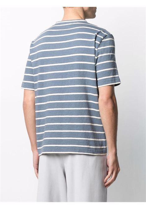 T-shirt a righe blue- uomo LANVIN | RMTS0018J045222
