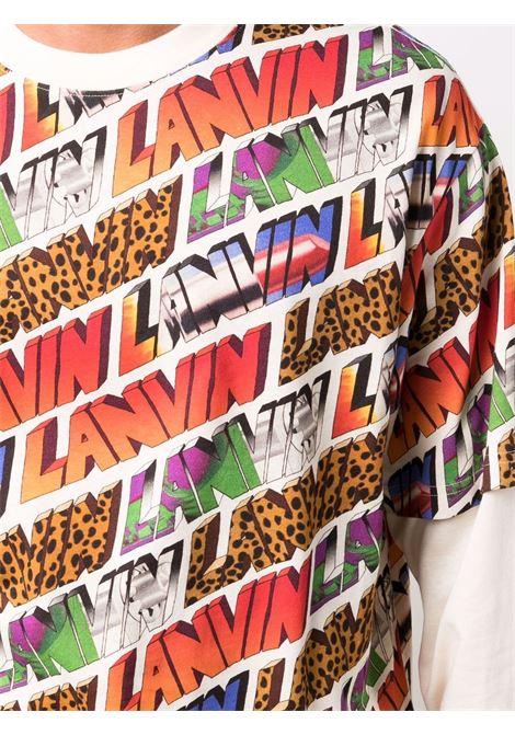 T-shirt modello a strati multicolore- uomo LANVIN | RMTS0120J108S1