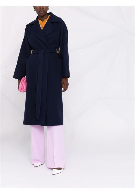 Tied waist coat navy blue- women LANVIN | RWCO00134711291