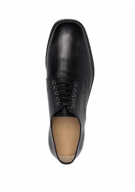 Black square-toe derby shoes - men  LEMAIRE | M213FO307LL185999