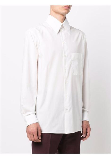 Camicia con collo a punta e tasca sul petto in bianco -uomo LEMAIRE | M213SH175LF588001