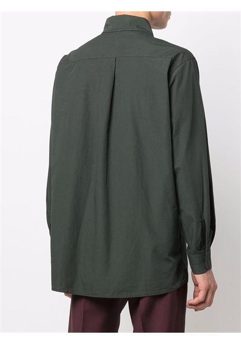 Khaki green chest-pocket shirt - men  LEMAIRE | M213SH178LF445689