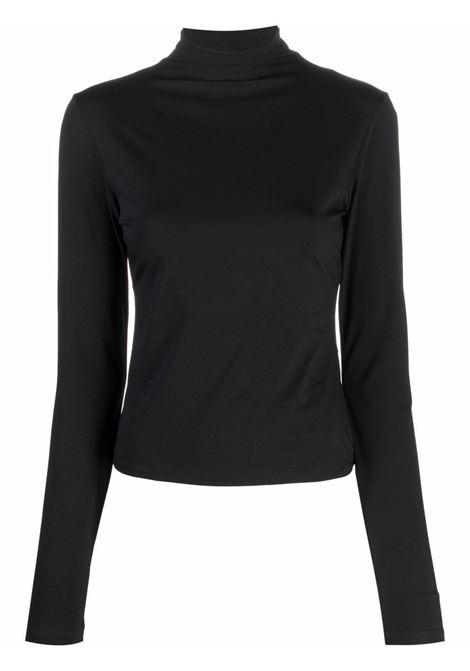 Top a maniche lunghe e collo alto in nero - donna LEMAIRE | W213JE424LJ068999