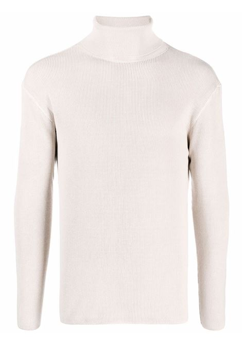 Pearl white roll-neck ribbed-knit jumper - unisex LEMAIRE | X213KN316LK111007
