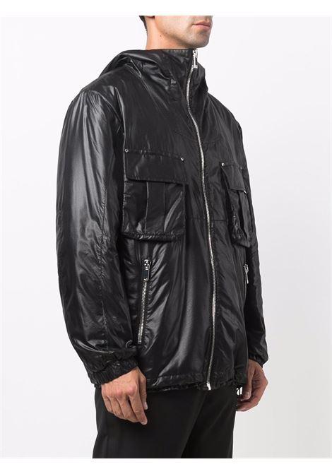 Multi-pocket hooded jacket in black - men  LES HOMMES | LLO313249U9000
