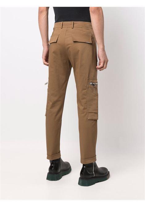 Mid-rise slim-fit trousers in camel-brown - men LES HOMMES | LLP133335U6600