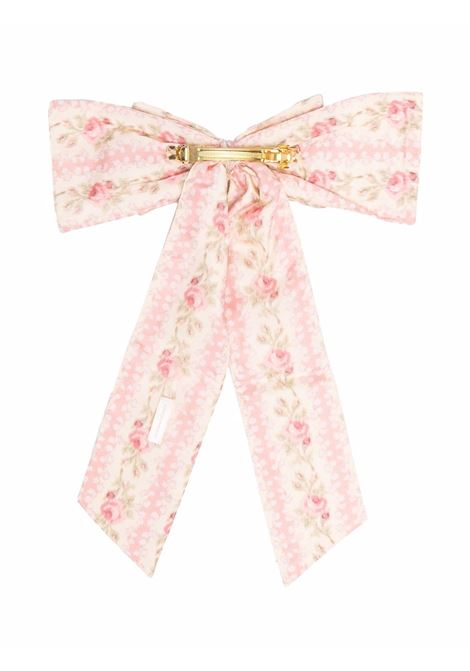 Fermacapelli con stampa floreale in rosa - donna LOVE SHACK FANCY LOVES MANEBI   LA079907FRPTP