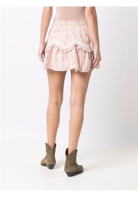 Minigonna a fiori con ruches in rosa - donna LOVE SHACK FANCY LOVES MANEBI   LS397907FRPTP