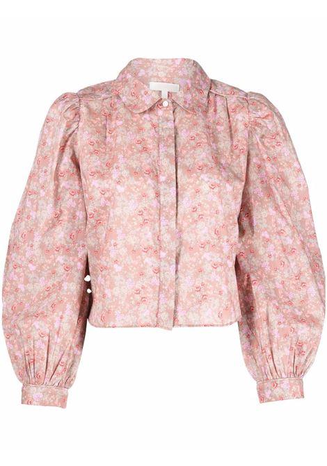 Camicia a fiori in tortora - donna LOVE SHACK FANCY LOVES MANEBI   LT774927WTASI