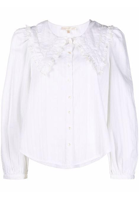 Camicia con colletto over in bianco - donna LOVE SHACK FANCY LOVES MANEBI   LT782894WHT