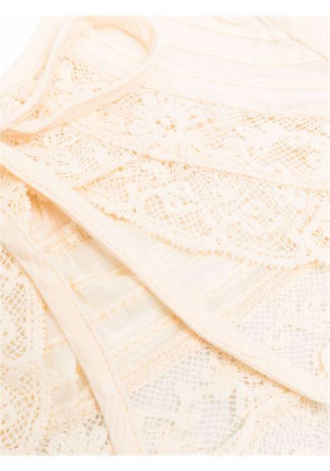 Colletto in pizzo color avorio - donna LOVESHACKFANCY | LA279898IVRY