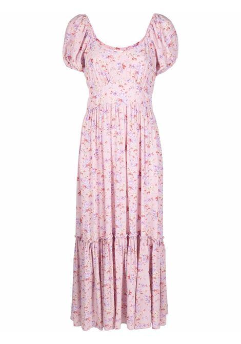Dusty pink midi floral dress - women  LOVESHACKFANCY | LD344878PIDST