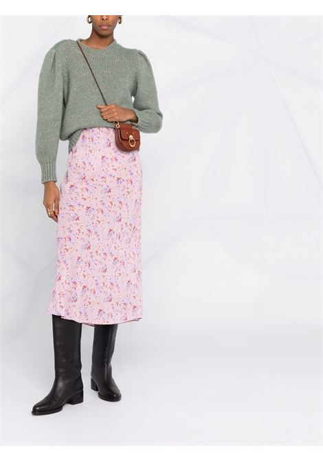 Dusty pink midi floral skirt - women  LOVESHACKFANCY | LS378878PIDST