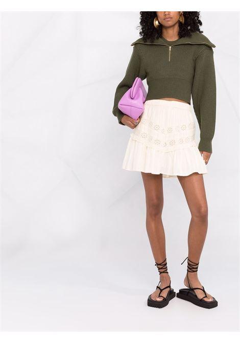 Minigonna in bianco - donna LOVESHACKFANCY | LS388898IVRY