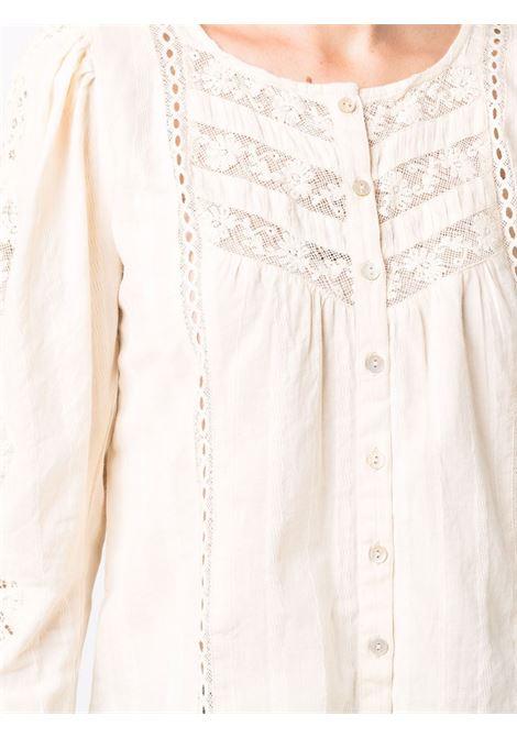 Ivory floral-lace detail blouse - women  LOVESHACKFANCY | LT781898IVR