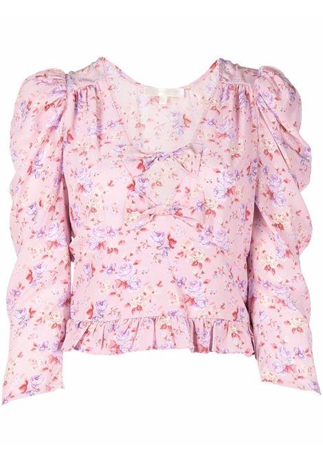 Dusty pink floral-print blouse - women  LOVESHACKFANCY | LT796878PIDST