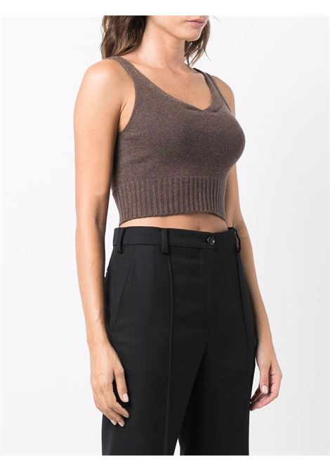 Top crop a coste in marrone - donna LOW CLASSIC | LOW21FWKN02BRWN