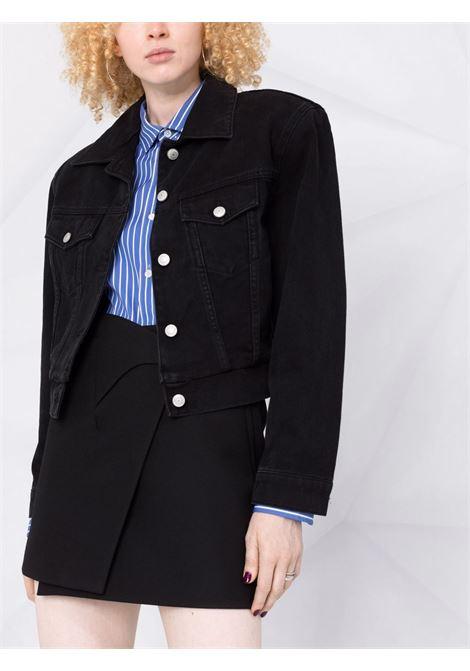 Giacca di jeans cropped in nero - donna MAGDA BUTRYM   102721BLK