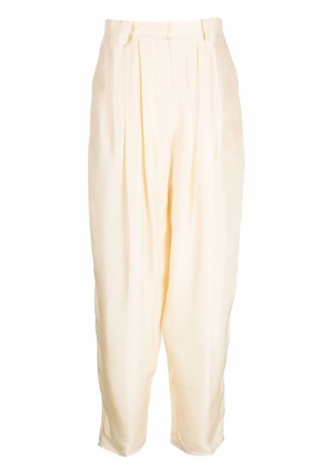 Wide-leg tapered trousers in cream - women  MAGDA BUTRYM | 128721CRM