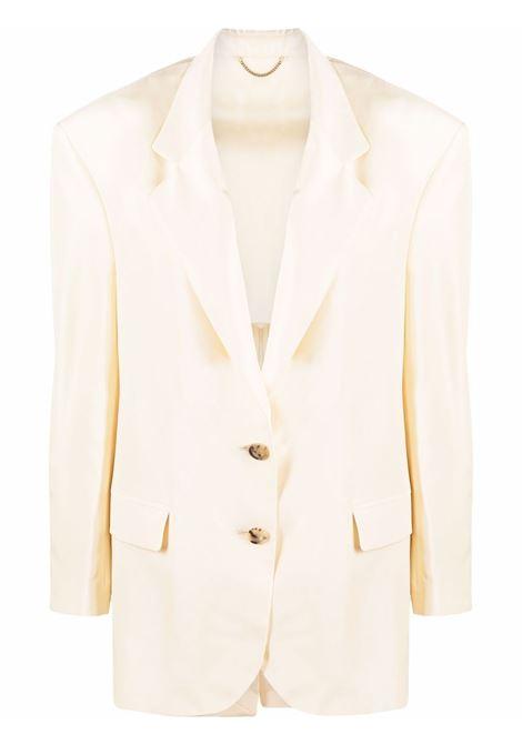Single-breasted blazer in cream - women MAGDA BUTRYM | 135721CRM