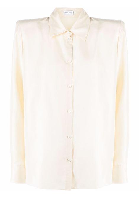 Camicia con spalline imbottite in beige - donna MAGDA BUTRYM | 142721CRM