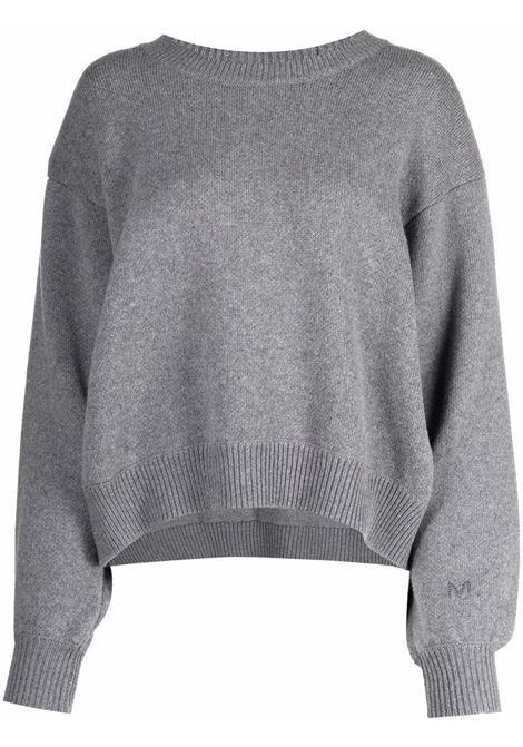 Curved-hem knitted jumper in grey - women  MAGDA BUTRYM | 208721GRY
