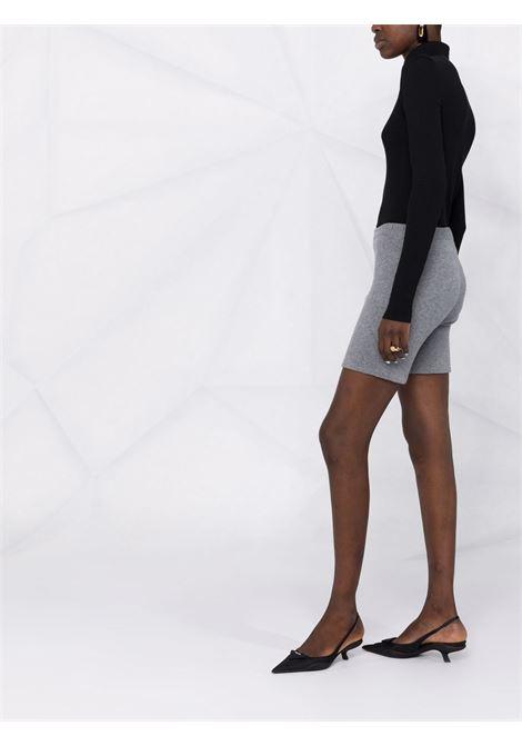 Ribbed-knit shorts in grey - women  MAGDA BUTRYM | 211721GRY