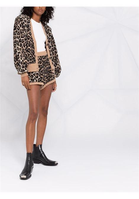 Pantaloncini con stampa beige, marrone e nero - donna MAGDA BUTRYM   271921BRWN